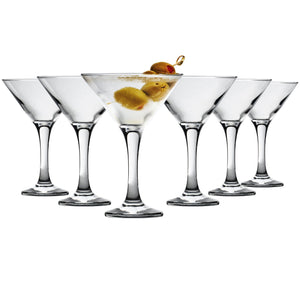 Rink Drink 6 Martini Cocktail Glasses - 175ml