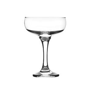 Rink Drink 6 Vintage Glass Champagne Coupe Saucers - 200ml
