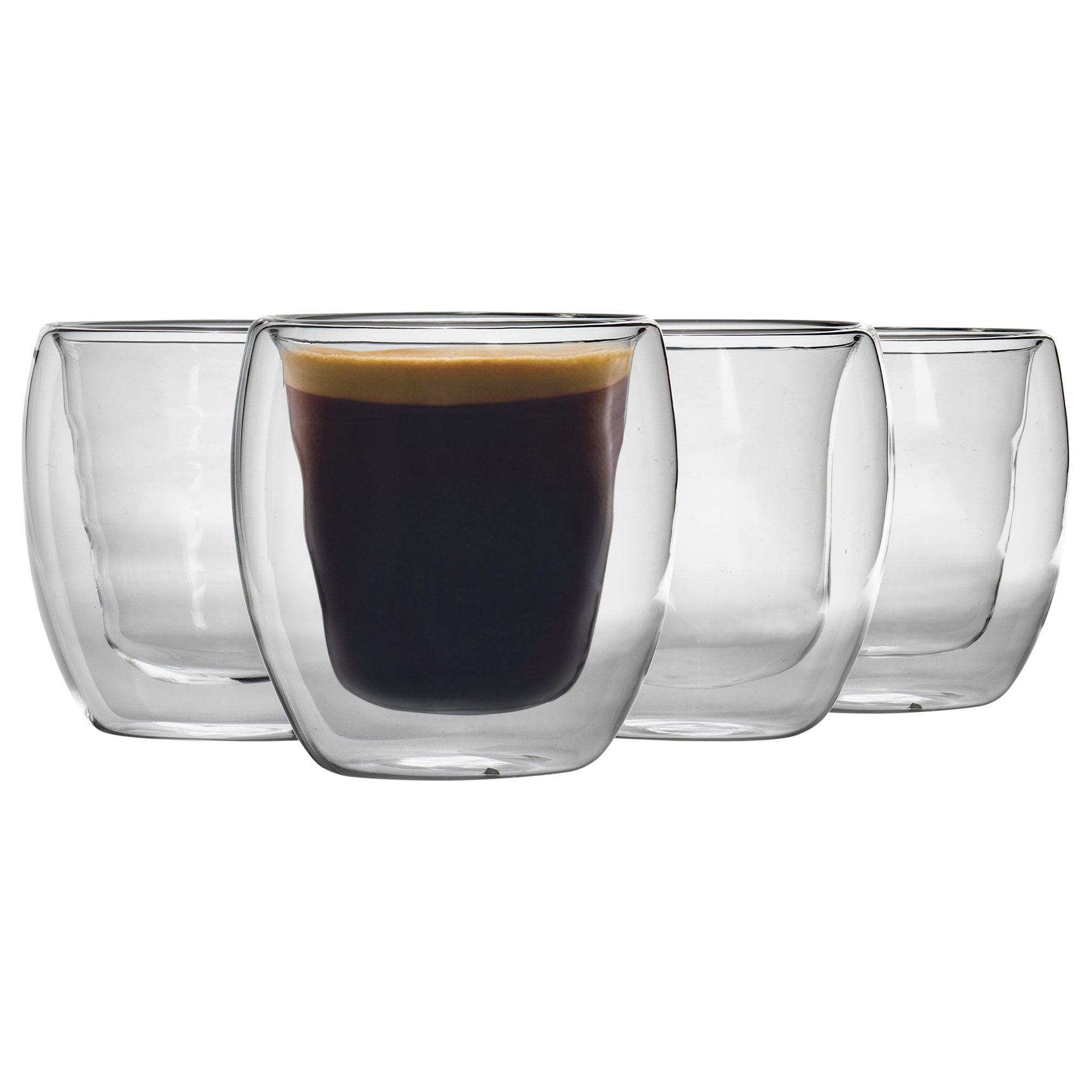 Details about Double Walled Insulated Coffee Mug Glasses Thermal Tea Coffee Cup Heat resistant