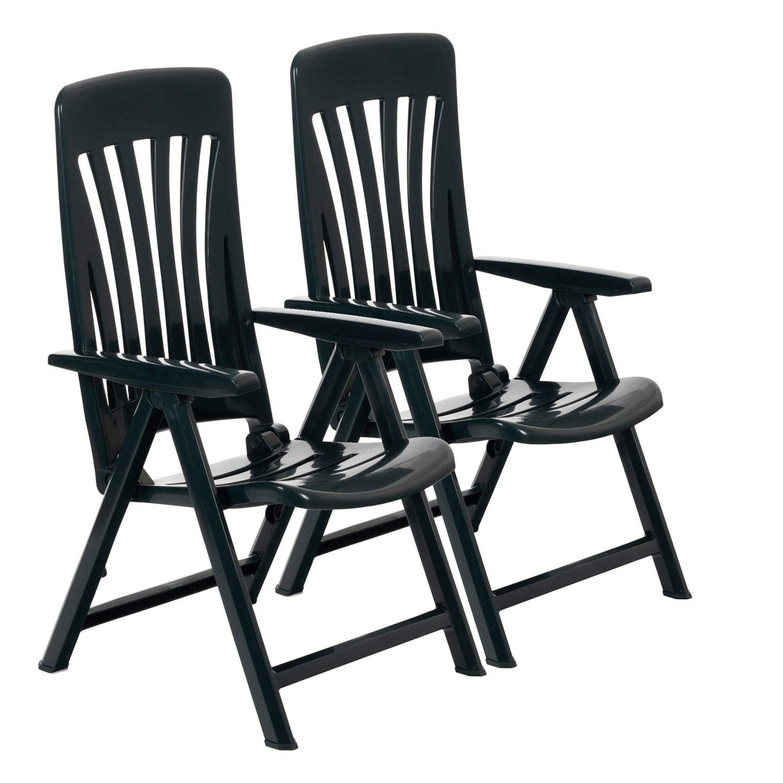 Resol Blanes Reclining Sun Lounger Chairs - Green - Pack of 2