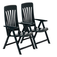 Resol Blanes Garden Recliner Chairs - Pack of 2 - Green