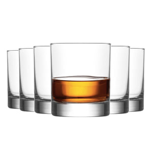 LAV 6 Piece Ada Whisky Glasses Set - 305ml