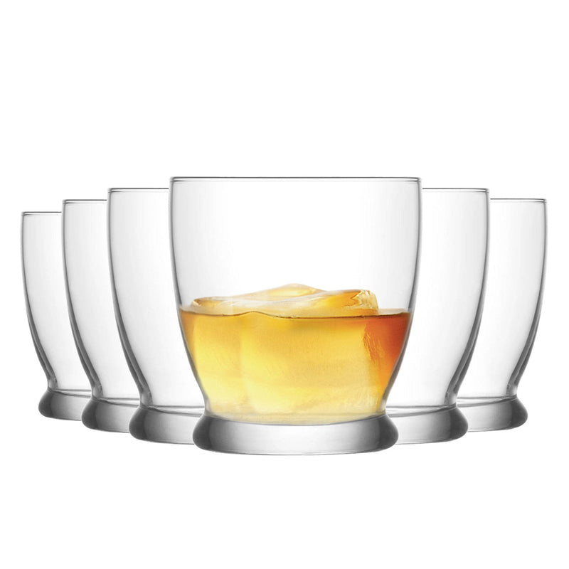LAV 6 Piece Roma Whisky Glasses Set - 295ml