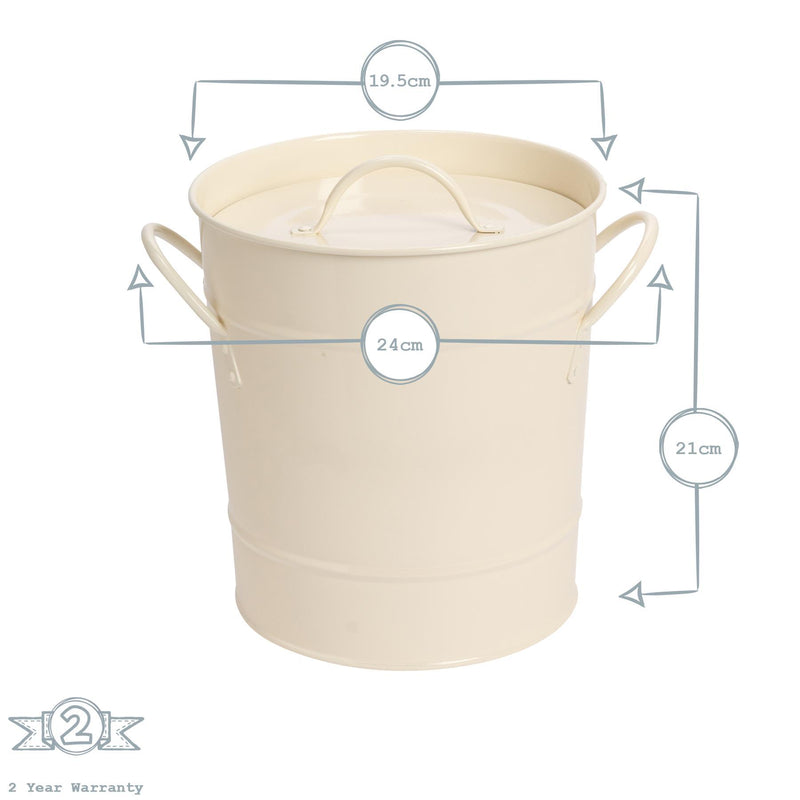 Harbour Housewares Ice Bucket with Lid & Scoop Dimensions