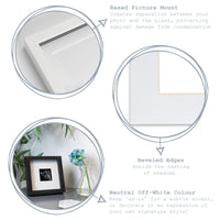 Nicola Spring Picture Mount for 8 x 8 Frame | Photo Size 6 x 6 - White