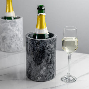 Argon Tableware Marble Kitchen and Bar Collection - Wine Bottle Chillers and Pestle and Mortar Set