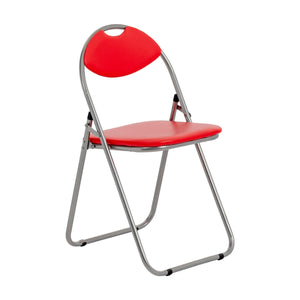 Harbour Housewares Padded Folding Chair - Red