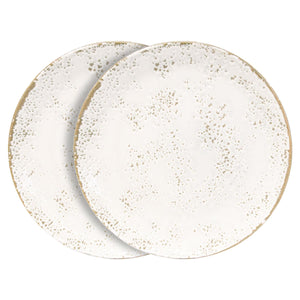 Churchill 6 Piece Umbria White Dinner Plates Set - 26cm - White