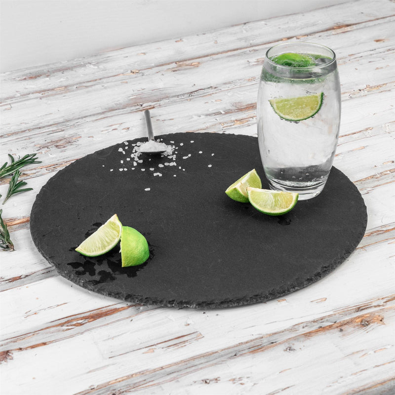 Argon Tableware Round Slate Serving Platter