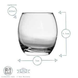 Argon Tableware drinking glasses for juice water and whiskey
