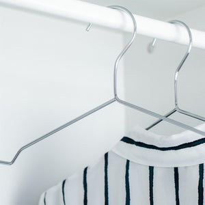 Harbour Housewares Metal Wire Coat Hanger - Chrome