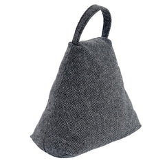 Nicola Spring Fabric Door Stop - Triangle - Grey