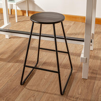 Harbour Housewares Wooden Bar Stool - Black / Black