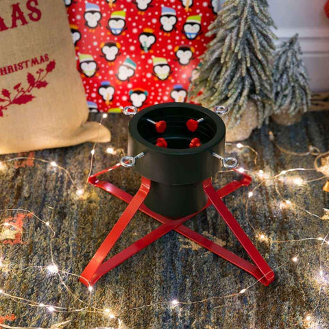 Harbour Housewares Christmas Tree Metal Frame Stand - Red/Green