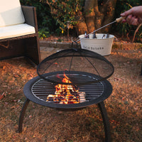 Harbour Housewares Fire Pit Patio Heater/Grill - 54cm