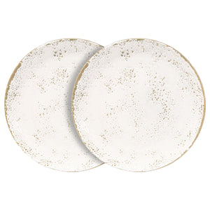 Churchill 6 Piece Umbria White Side Plates Set - 22cm - White
