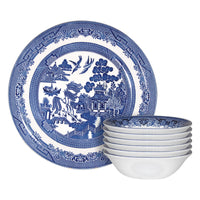 Churchill 12 Piece Blue Willow Georgian Crockery Set - Blue