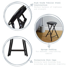 Harbour Housewares Round Compact Folding Stool