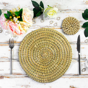 Handmade dining table place mats coasters