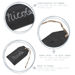 Nicola Spring Natural Slate Hanging Tags Detail