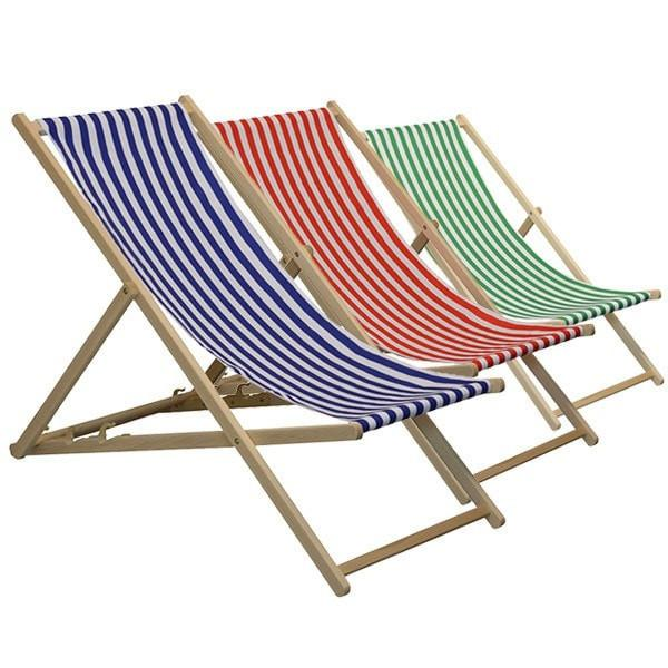 Traditional Garden Beach Style Adjustable Deck Chair Harbour Housewares Deck Chair