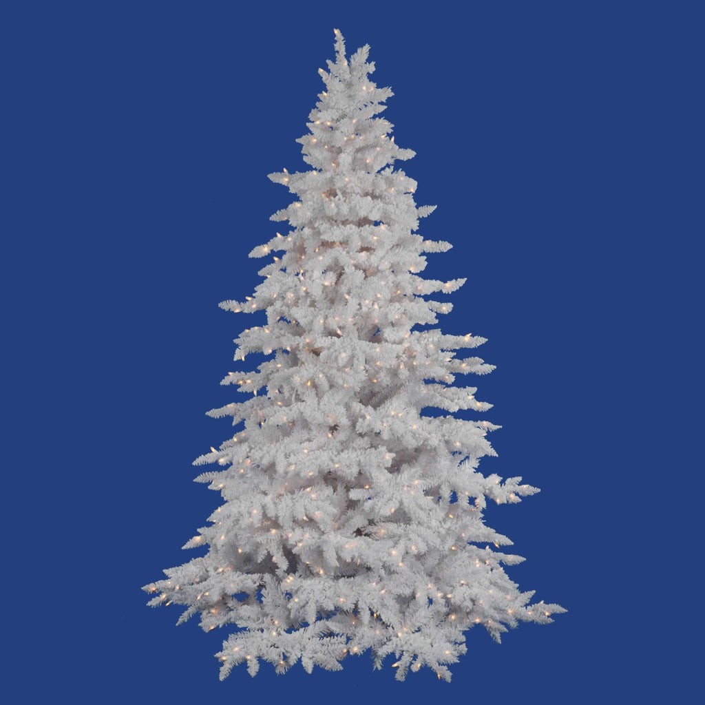 White Spruce Flocked Tree