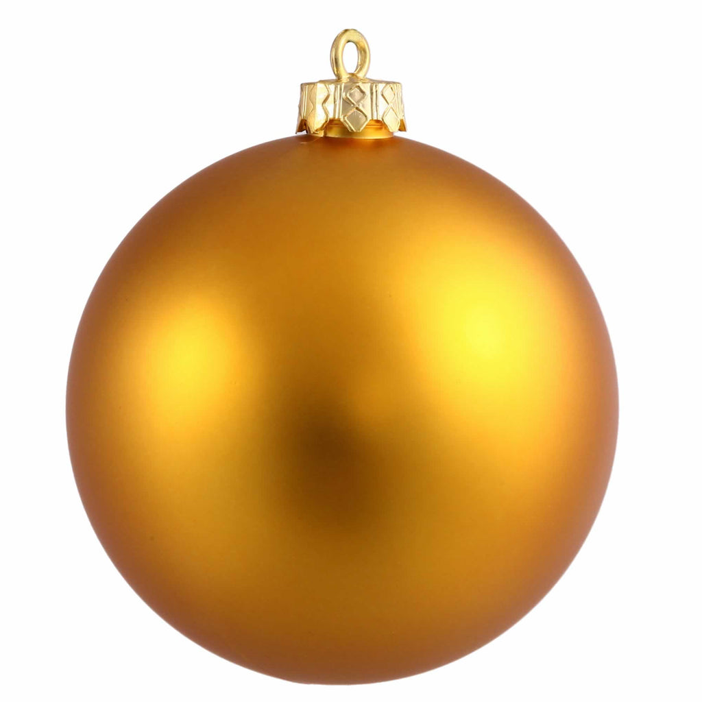 "8"" Matte Finish Drilled Ball Ornament"