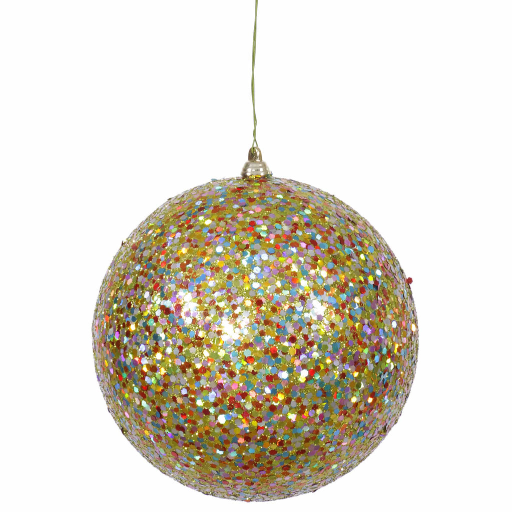 "6"" Sequin/Glitter Ball Ornament"
