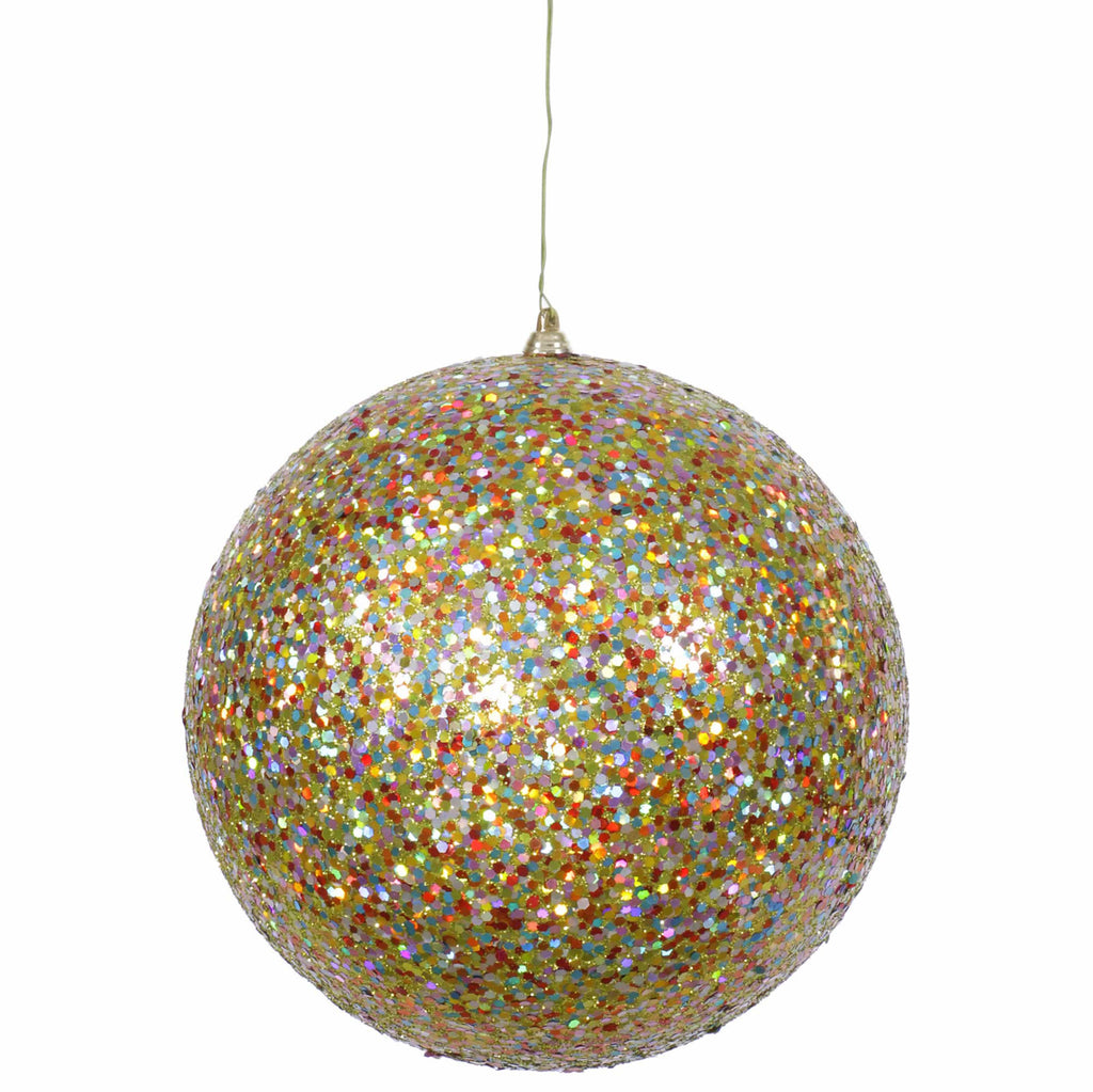 "8"" Sequin/Glitter Ball Ornament"