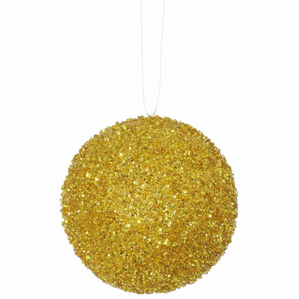 "4.75"" Beaded/Sequin Ball Ornaments (Set of 3)"