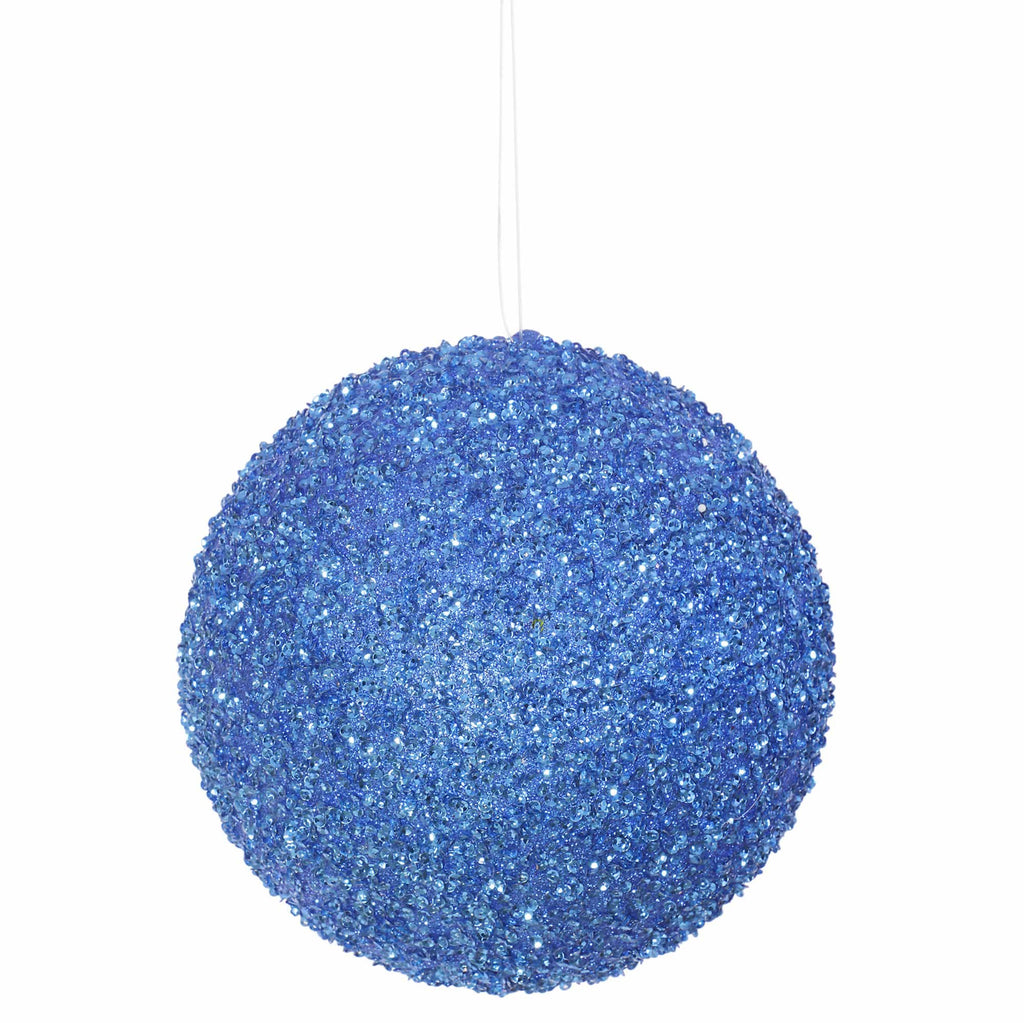 "6"" Beaded/Sequin Ball Ornament"