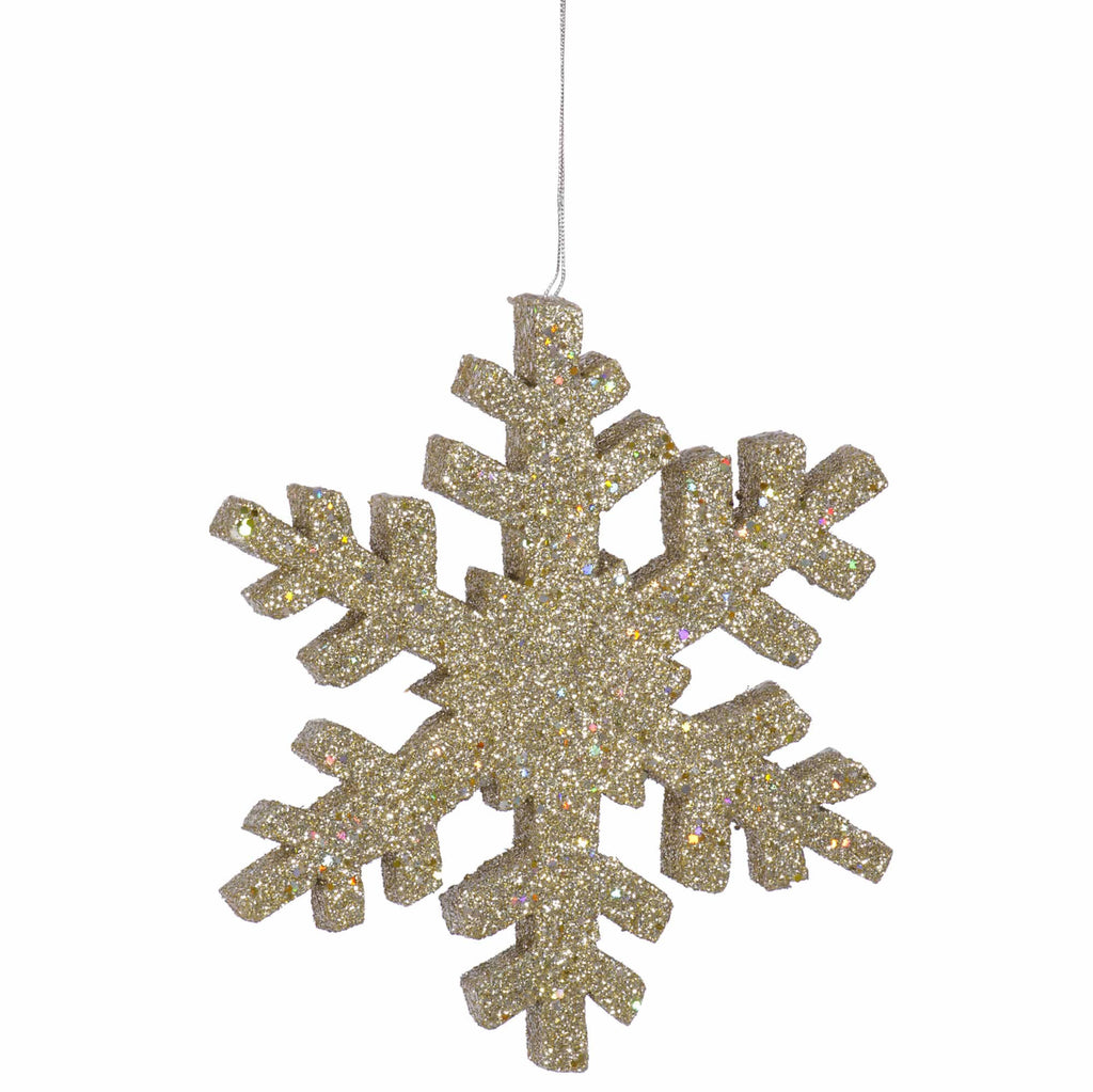 "30"" Outdoor Glitter Snowflake Ornament"