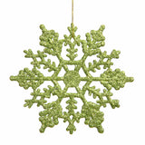 "8"" Glitter Snowflake Ornaments (Set of 12)"