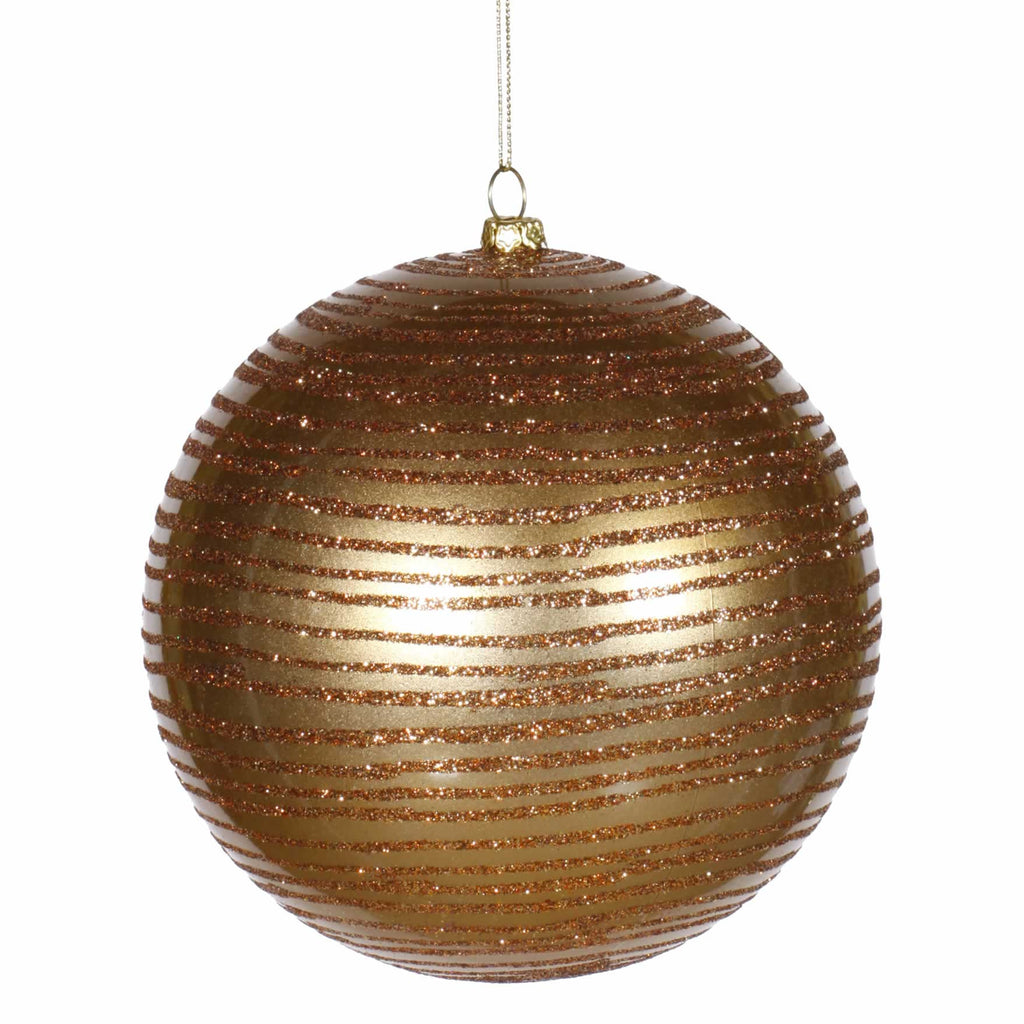"5.5"" Matte/Glitter Finish  Ball Ornaments (Set of 2)"