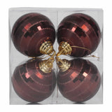 "4"" Shiny/Matte Finish Mirror Ball Ornaments (Set of 4)"