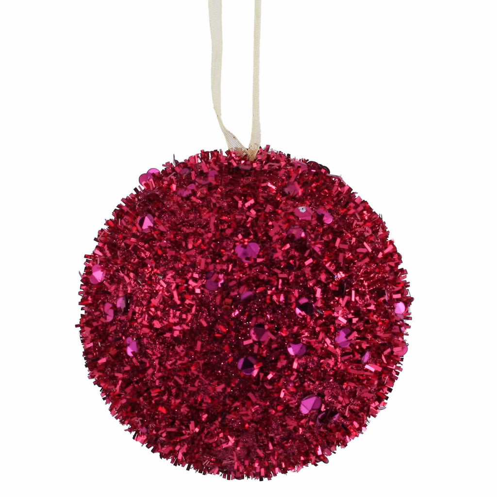 "3"" Sequin/Glitter Ball Ornaments (Set of 6)"
