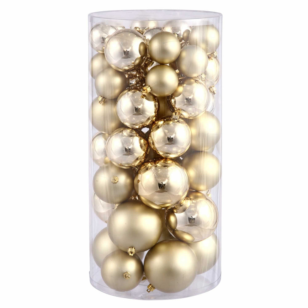 "1.5""-2"" Assorted Finish Ball Ornaments (Set of 50)"