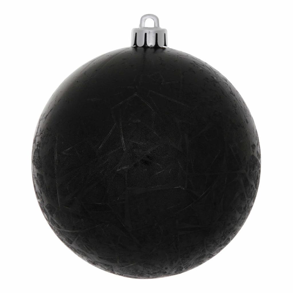 "6"" Crackle Finish Ball Ornaments (Set of 4)"