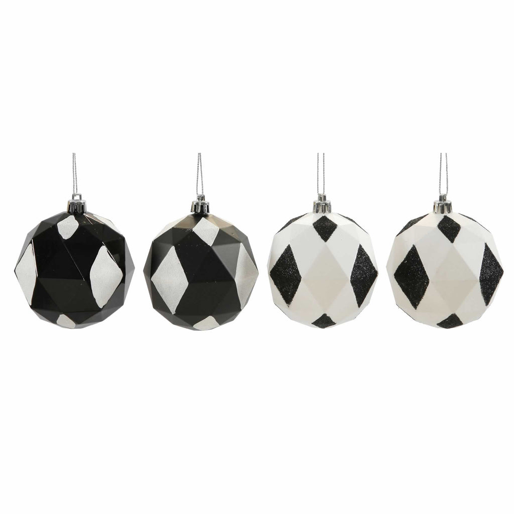 "3"" Assorted Finish Diamond Ball Ornaments (Set of 8)"