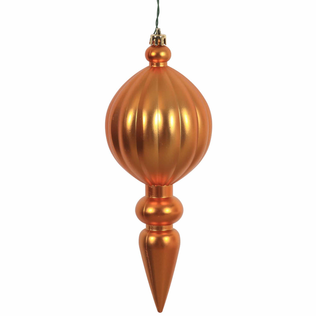 "8"" Matte Finish Finial Ornaments (Set of 6)"