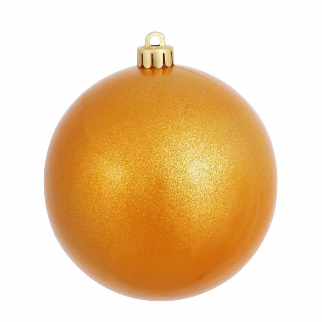 "4"" Candy Finish Ball Ornaments (Set of 6)"