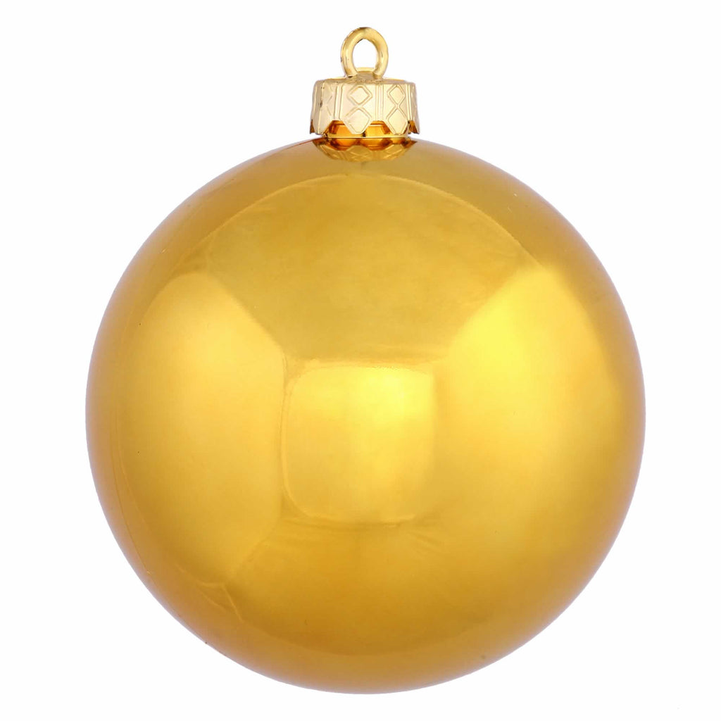 "6"" Shiny Finish Drilled Ball Ornaments (Set of 4)"