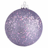 "6"" Sequin Finish Drilled Ball Ornaments (Set of 4)"