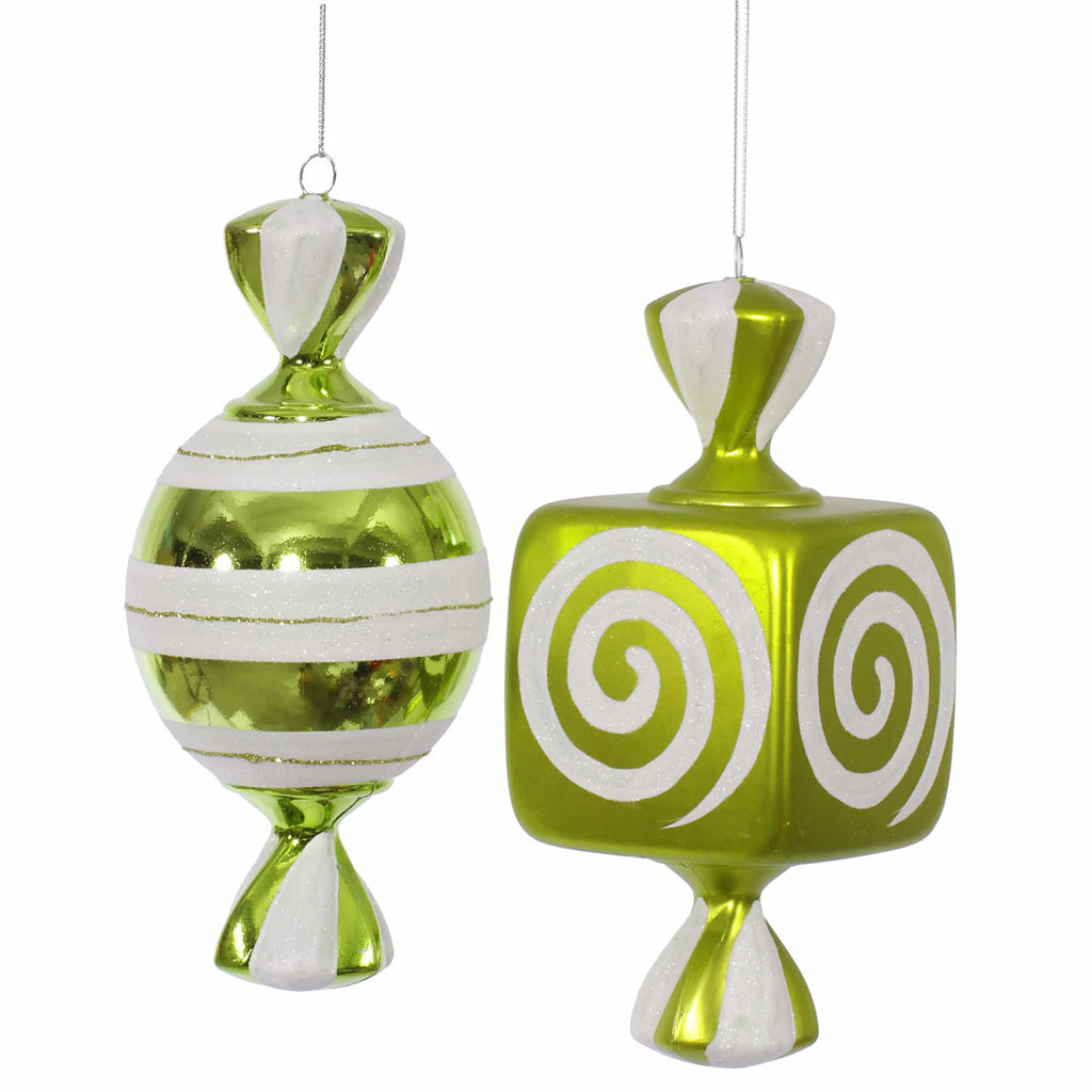 "8"" Assorted Candy Ornaments (Set of 2)"