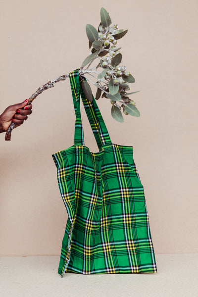 Kubeba Green + Yellow Tote Bag