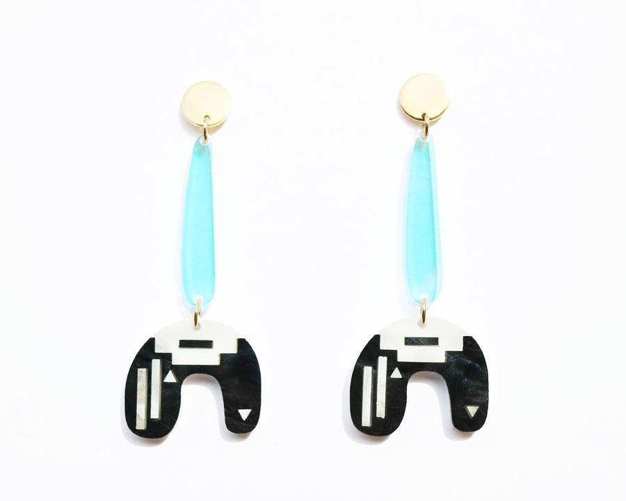 Ayize Earrings- Black