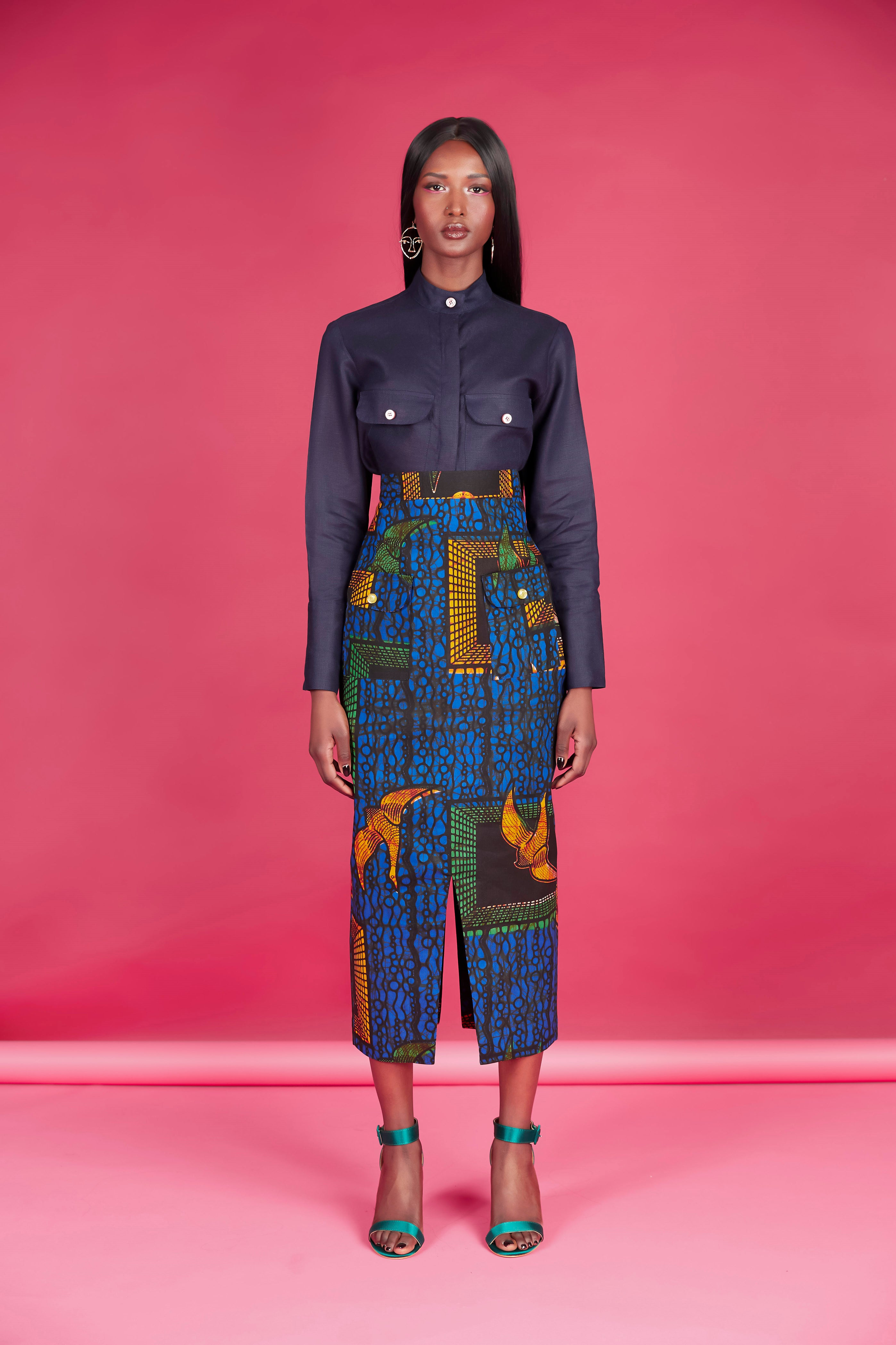 Utambulisho High Waist Skirt