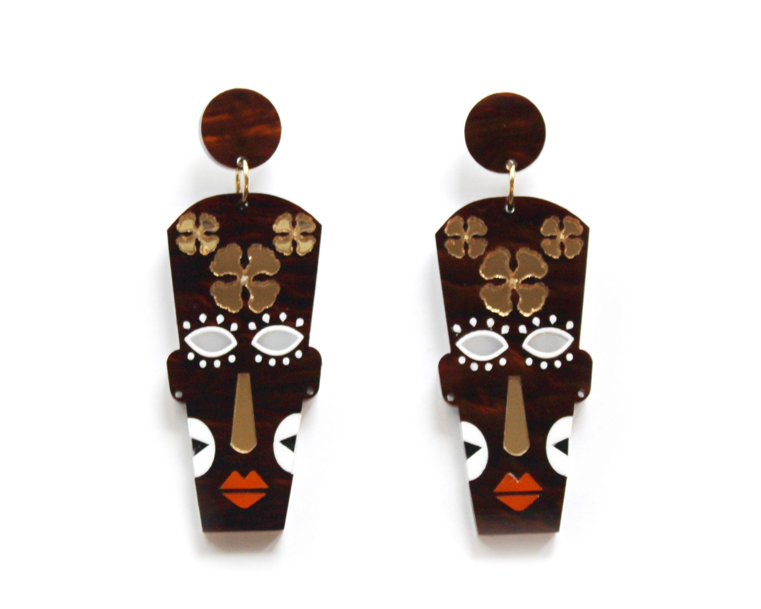 FIIFI Earrings- Brown