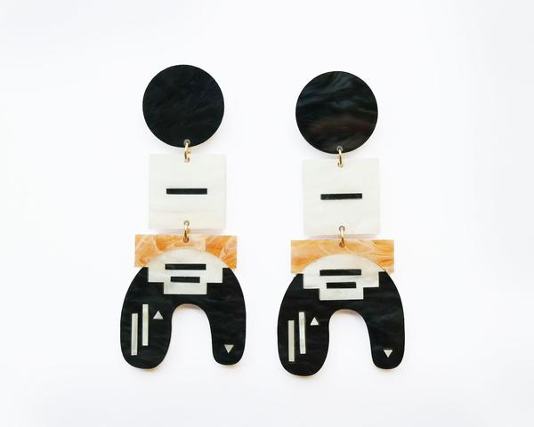 Liyana Earrings- Black