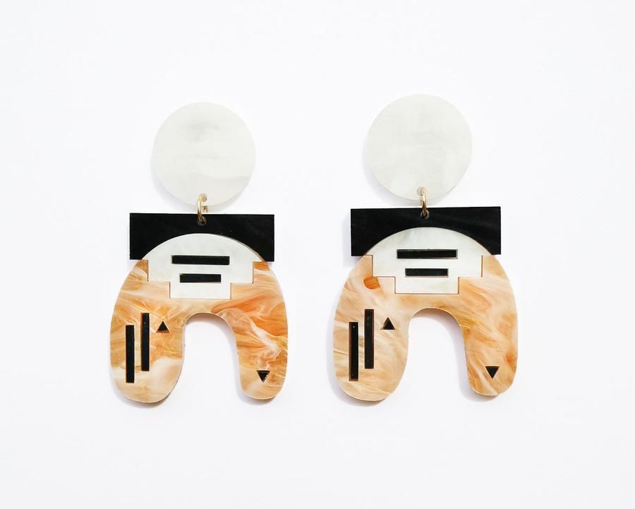 Pula Earrings- Mustard